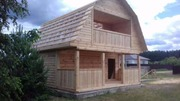 Дом Верона из бруса 6х6 с террассой установка в Гродненской области